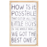 Best Little Boy Wood Wall Decor